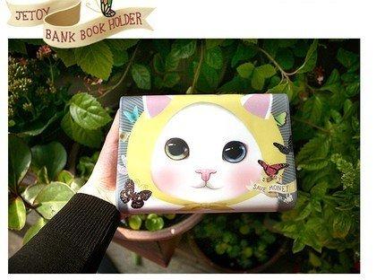 Cute Jetoy Choo Choo Cat Butterflies Multi Purpose Big Bank Passport Holder Case