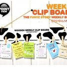 Cute Black White Cow Prints Design Weekly Messages Peg Note Memo Clipboard Holder