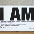 Retro Style I AM Inspirational Message Words Metal Box Business Name Cards Little Trinkets