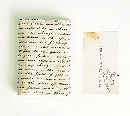 Really Nice Cursive Font Writing Pattern Fabric Cloth Name Credit Card Case Holder