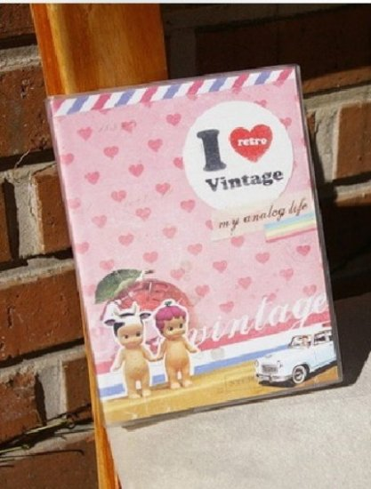 Retro I Love Vintage Any Year Planner Diary With Stickers