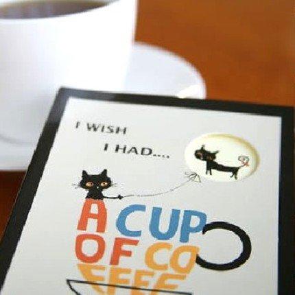 Cute Shinzi Katoh Coffee Cat Any Year Diary Planner