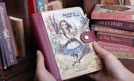 Alice In Wonderland Any Year Planner Diary Cover Pen Stickers SALE ITEM SMALL DEFECTS