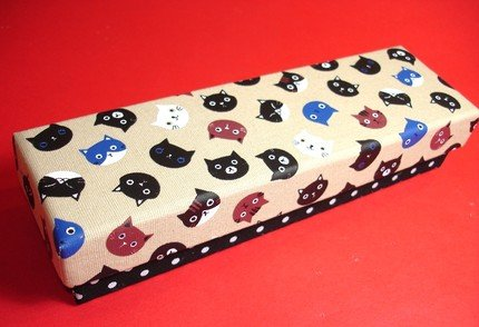 Cute Japanese Cats Cloth Fabric Artbox Pencil Case Box