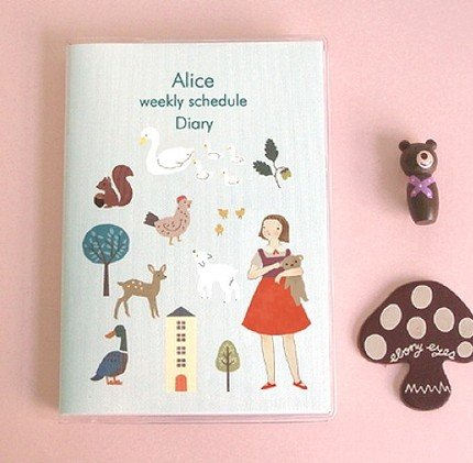 Sweetest Alice And Farm Animal Theme Any Year SMALL Planner Diary Journal