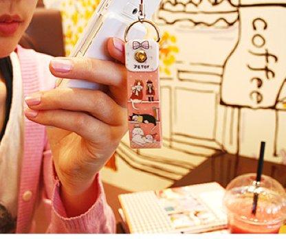 Jetoy Cats Mp3 Camera Handphone Strap Charm In On Bookshelf Theme