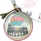 Retro Hot Air Balloon Italy Eiffel Tower Charm Mps Camera Handphone Charm
