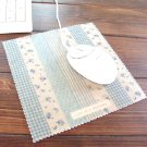 Sweet Zakka Blue Flowers Polka Dots Mouse Pad