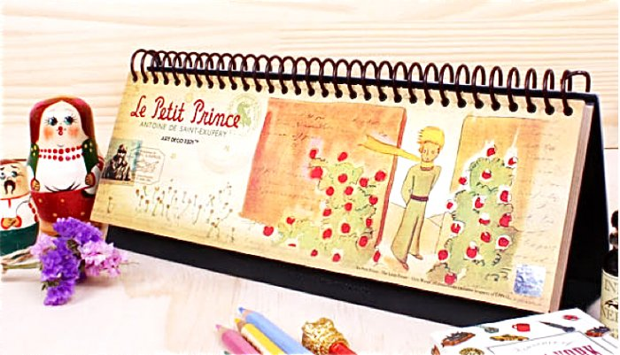 Le Petit Little Prince Long Month Weekly Planner Diary