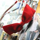 Red Triple Ribbon Bow Hairband Headband