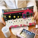 Lovely Jetoy Cats At Planetary Moonlight Black Make Up Case Big Purse
