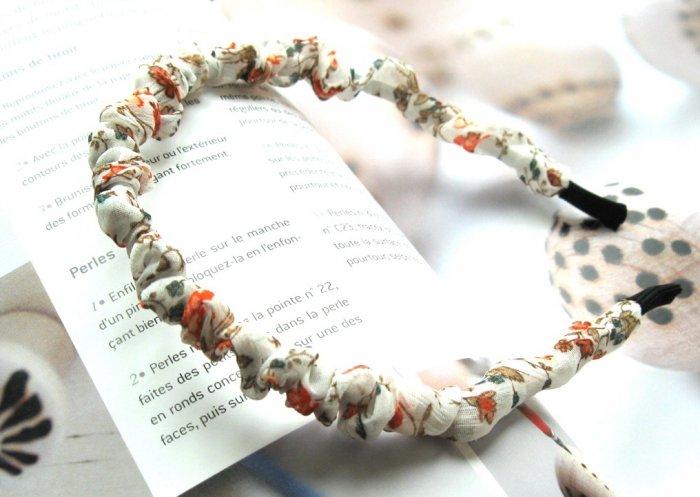 Zakka White Small Colorful Flowers Hairband Headband