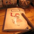 Zakka Winter Little Girl Cat Slim Notebook Journal