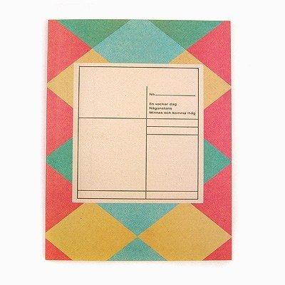 Retro Pink Green Preppy Argyle Checks Notebook Journal