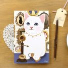 Jetoy Retro Vintage Style Cat Line Notebook Journal - Antique