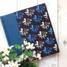 Zakka Artbox Blue Retro Birds Fabric Cover Notebook Scrapbook Journal