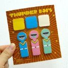 Retro Spaceman Robot Sticky Scrapbook Paper Note Pad