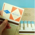Fun Matchstick Sticky Scrapbook Paper Note Pad