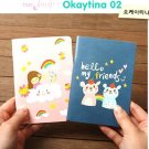 Kawaii Bear Rainbow Cloud SMALL Notebook Journal 2 In A Set