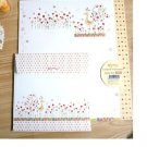 Zakka Red Flowers And Birds Letter Set Letterset