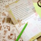 Vintage Retro Style Bear Toys Letter Set Letterset