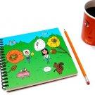 Retro Poppy Flower Character Animal Journal Notebook Scrapbook