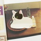 Jetoy Black White Kitten Cat Animal Sticky Scrapbook Paper Note Pad