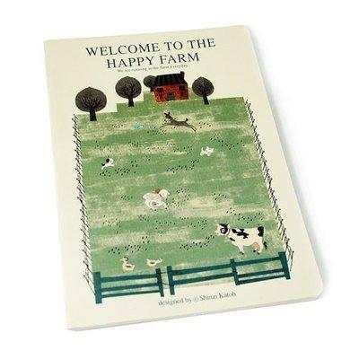 Shinzi Katoh Happy Farm Animal Medium Notebook Journal