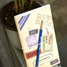 Retro Postal Airmail Tags Labels Stickers Travel Notebook Journal