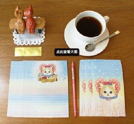 Jetoy Cat I Love You Castle Hearts Letter Set Letterset