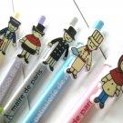 Zakka Retro French ParisParisian Cartoon Ballpoint Pens 5's