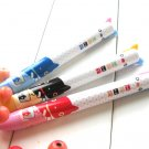 Kawaii Cat Animall Duo Ballpoint Ink Pens 3's