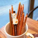 Jetoy Brown And White Cat Animal Cartoon Ballpoint Pen
