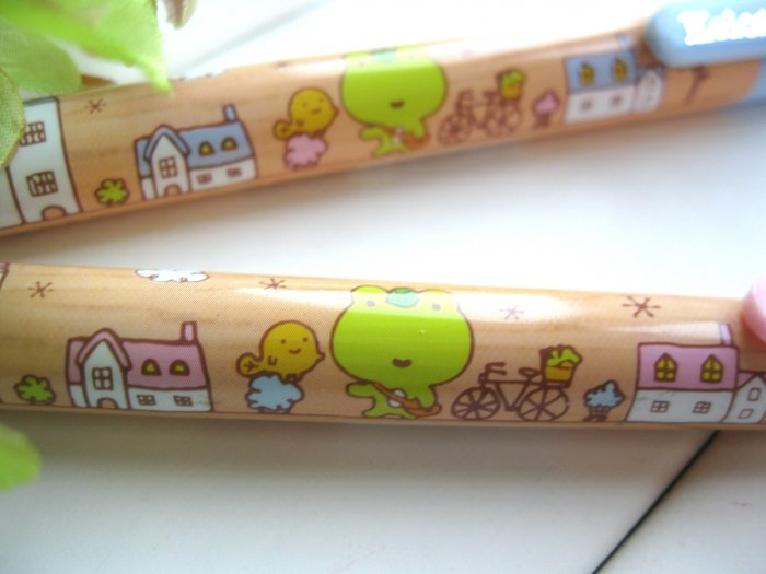 Kawaii Japanese Green Frog House Cartoon Ballpoint Pens
