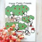 Kawaii Panda Bear Apples Cartoon Artbox SMALL Notebook Journal