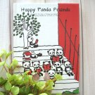 Kawaii Panda Bear At School Cartoon Artbox SMALL Notebook Journal