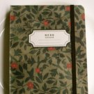 Soothing Brown Red Herb Flower Leaves Handheld Journal Notebook