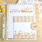 Zakka Colorful Flowers And Cats Letter Set Letterset