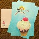 Zakka Colorful Girl Ice Cream Cherry Cat Letter Set Letterset