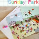 Kawaii Colorful Animals At A Carnival Letter Set Letterset