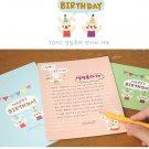 Kawaii Colorful Rabbit Happy Birthday Letter Set Letterset