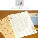Zakka Kawaii Rabbit Tree House Letter Set Letterset