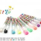 Kawaii Rainbow Colors 10 Fruity Gel Ink Colors Popcorn Craft Pens