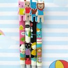 Kawaii Cat Rabbit Animal Colorful Ballpoint Pens 4's