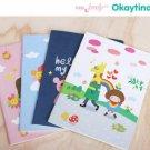 Kawaii BIG Children Rainbow Clouds Notebook Journal 4 Book Design In One Set