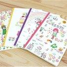 Kawaii Children Animal Pets Stars Rainbow Notebook Journal 4 Notebook 4 Designs