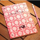 Victorian Floral Pink Antique Carriage Notebook Journal