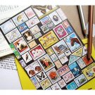 Colorful Worldwide Postal Stamps Letter Set Letterset