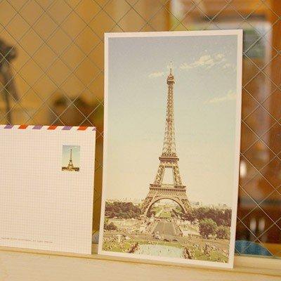 Retro Paris Tour Eiffel Letter Set Letterset