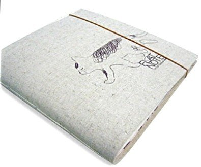 Zakka Oatmeal Cream Cloth Fabric Cat Notebook Journal Scrapbook